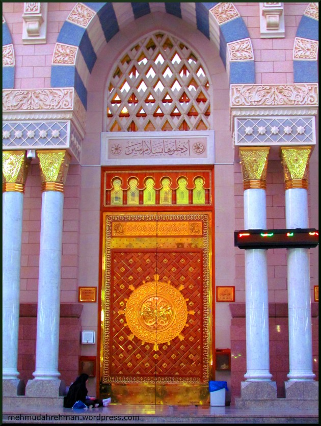 Enter in peace... the mosque of the Prophet (PBUH)