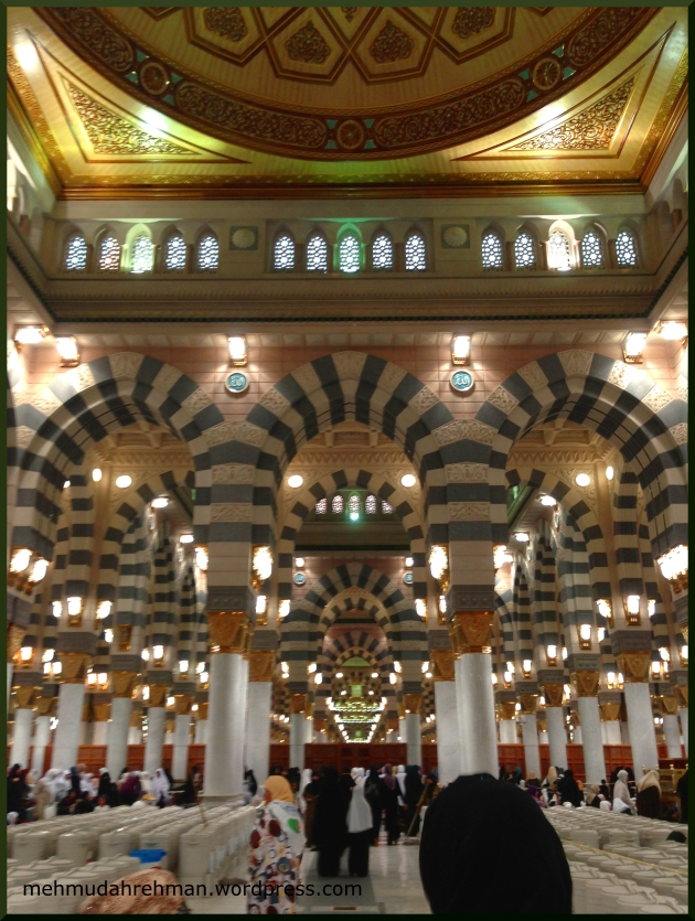 A shot from inside the ladies prayer hall, Bab Uthman Bin Affan (I think)