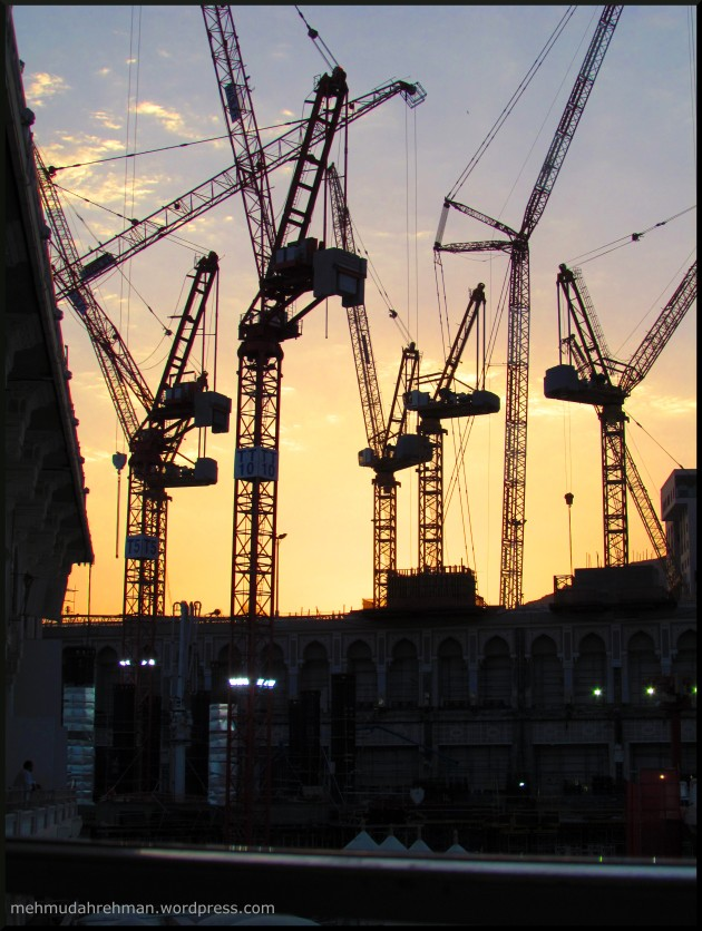 Yes, too much construction! Makkah was like, one big construction site.